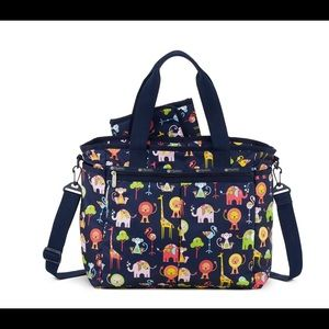 LeSportsac Ryan Baby Tote Zoo Collection Navy